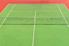 Red and green tennis court Royalty Free Stock Photography