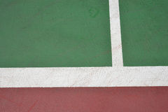 Red and green tennis court surface Stock Photo