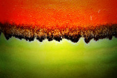 Red and green texture of ceramic surface Royalty Free Stock Images
