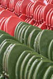 Red and Green Thai Style Temple Roof Stock Images