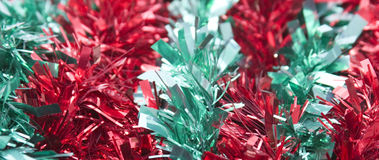 Red Green Tinsel Background Stock Photos