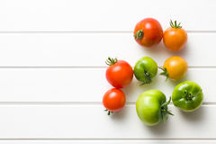 Red and green tomatoes Royalty Free Stock Images