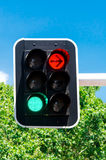 Red and green traffic lights Stock Photography