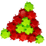 The red-green triangle of mosaic Stock Image