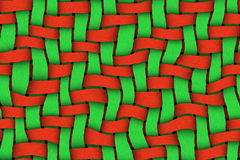 Red - Green Twill Background Stock Images