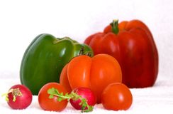 Red and Green vegetables Stock Images