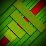 Red and Green Velvet Abstract Background. Red and green velvet background with diagonal bands Stock Photos