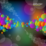 Red green violet bubbles Stock Photos