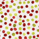 Red and green watercolor dotted background. REd and green watercolor dotted bacgkround. Seamless pattern good for web pages or as wallpaper stock illustration