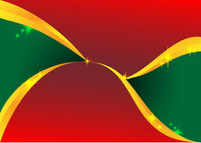 Red and green wave Stock Photography