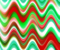 Red green waves shapes hues, abstract background. Red green hues and shadows with waves like shapes. Abstract design and texture Royalty Free Stock Photo