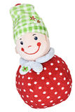 Red and green weeble is smiling Stock Photos