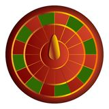 Red green wheel fortune icon, cartoon style vector illustration