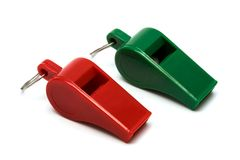 Red and green whistle Royalty Free Stock Photography
