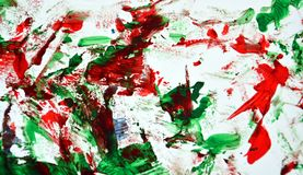 Red white blue bright painting backround, abstract painting watercolor background royalty free stock image