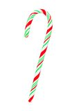 Red, green and white candy cane isolated on white Stock Photo