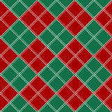 Red Green White Chess Board Christmas Background. Royalty Free Stock Image