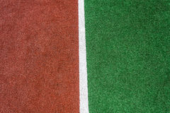 Red Green White Line Astro Turf Stock Images