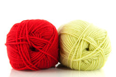 Red and green wool Royalty Free Stock Photo