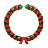 Red green wreath Stock Photos