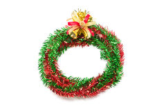 Red And Green Wreath With Christmas Bells. Royalty Free Stock Image