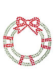Red green wreath made of rhinestones Stock Images