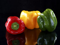 Red, Green and Yellow Bell Pepper Stock Image