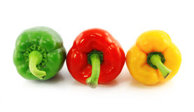 Red,green and yellow bell peppers Stock Image