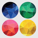 Red, green, yellow and blue geometric Stock Images