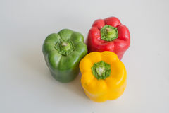 Red, green and yellow California peppers Royalty Free Stock Photography