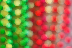 Red, green, yellow heptagons Stock Photography