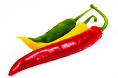 Red green yellow hot chili pepper Royalty Free Stock Photography
