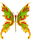 Red green yellow paint made butterfly Stock Photography