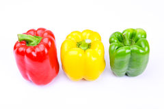 Red, green and yellow paprika Royalty Free Stock Photo