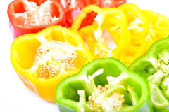Red, green and yellow paprika Royalty Free Stock Images