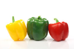 Red, green and yellow pepper Stock Image
