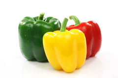 Red, green and yellow pepper Stock Photo
