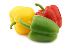 Red, green and yellow pepper (capsicum) Stock Photography