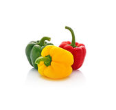 Red green yellow pepper Royalty Free Stock Photos