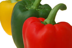 Red,green and yellow peppers Royalty Free Stock Images