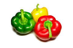Red green yellow pepper Stock Photography