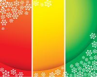 Red green yellow vector cards Stock Images