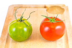 Red and Green zebra tomatoes Royalty Free Stock Photography