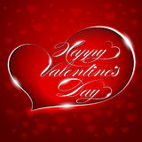 """Red Greeting Card """"Happy Valentine's Day"""",  Stock Images"""
