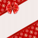Red greeting card with bow. Stock Images