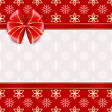 Red greeting card with bow. Royalty Free Stock Photos
