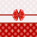 Red greeting card with bow. Royalty Free Stock Photography