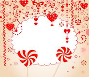 Red greeting card Stock Images