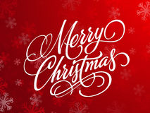Red greeting card for Merry Christmas. Royalty Free Stock Photo