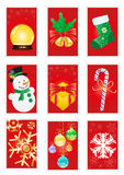 Red greeting cards Royalty Free Stock Photography